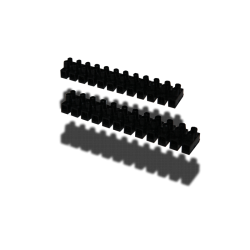 B/10 REGLETAS NEGRAS 4mm 3AMP